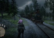 red dead online robbing trains