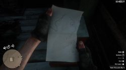 where to find torn treasure map 1 rdr 2 hermit stranger location