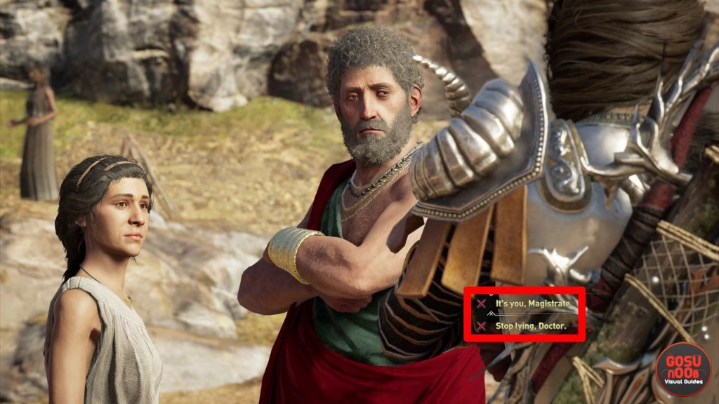 AC Odyssey Accuse Magistrate or Doctor - Mysterious Malady Quest