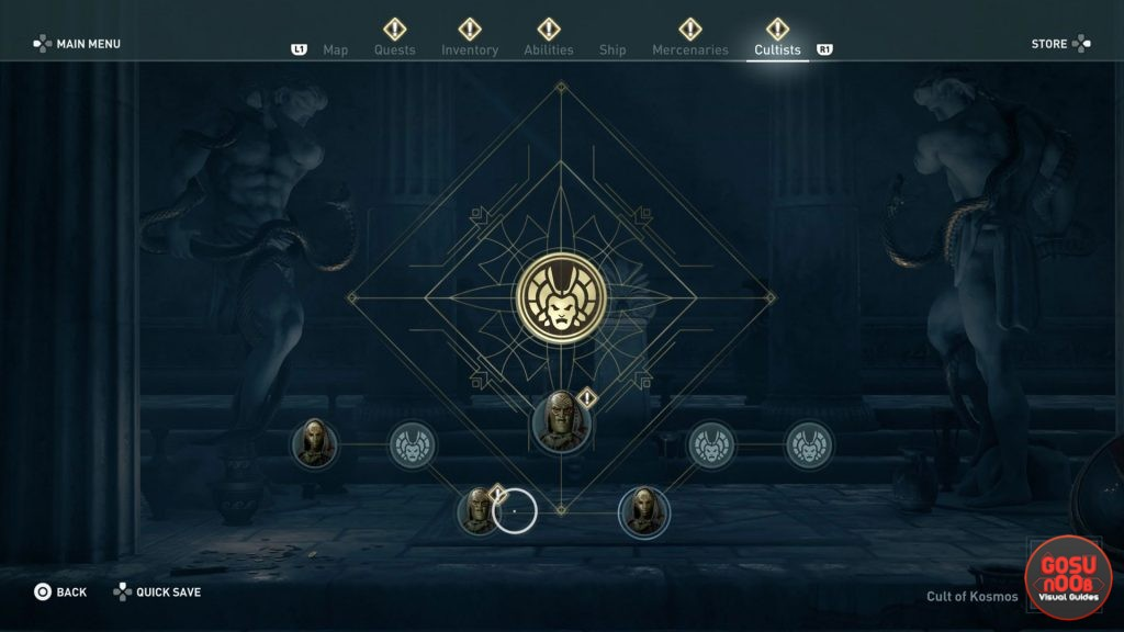 AC Odyssey Order of the Ancients Hunters Cultist Branch Locations