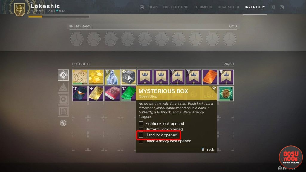 Destiny 2 How to Open Hand Lock in Mysterious Box Quest