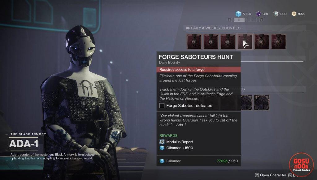 destiny 2 forge saboteurs locations