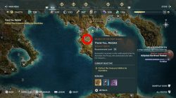 where to find aiantides treasure thank you malaka ac odyssey dlc
