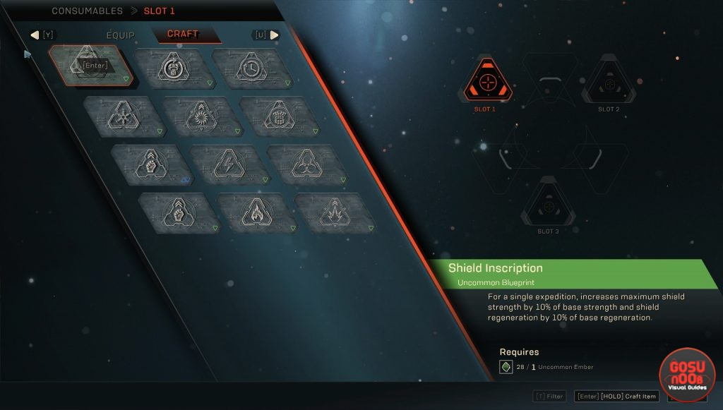 anthem consumables crafting how to craft inscriptions for expeditions