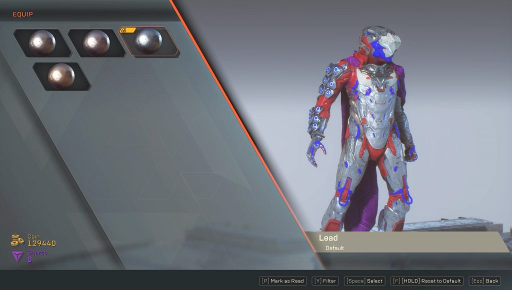anthem how to change javelin color armor customization