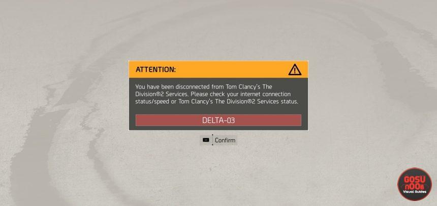 division 2 beta errors problems