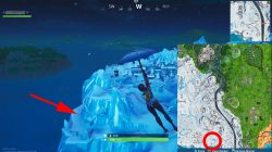 fortnite season 8 weekly challenge snow giant face location