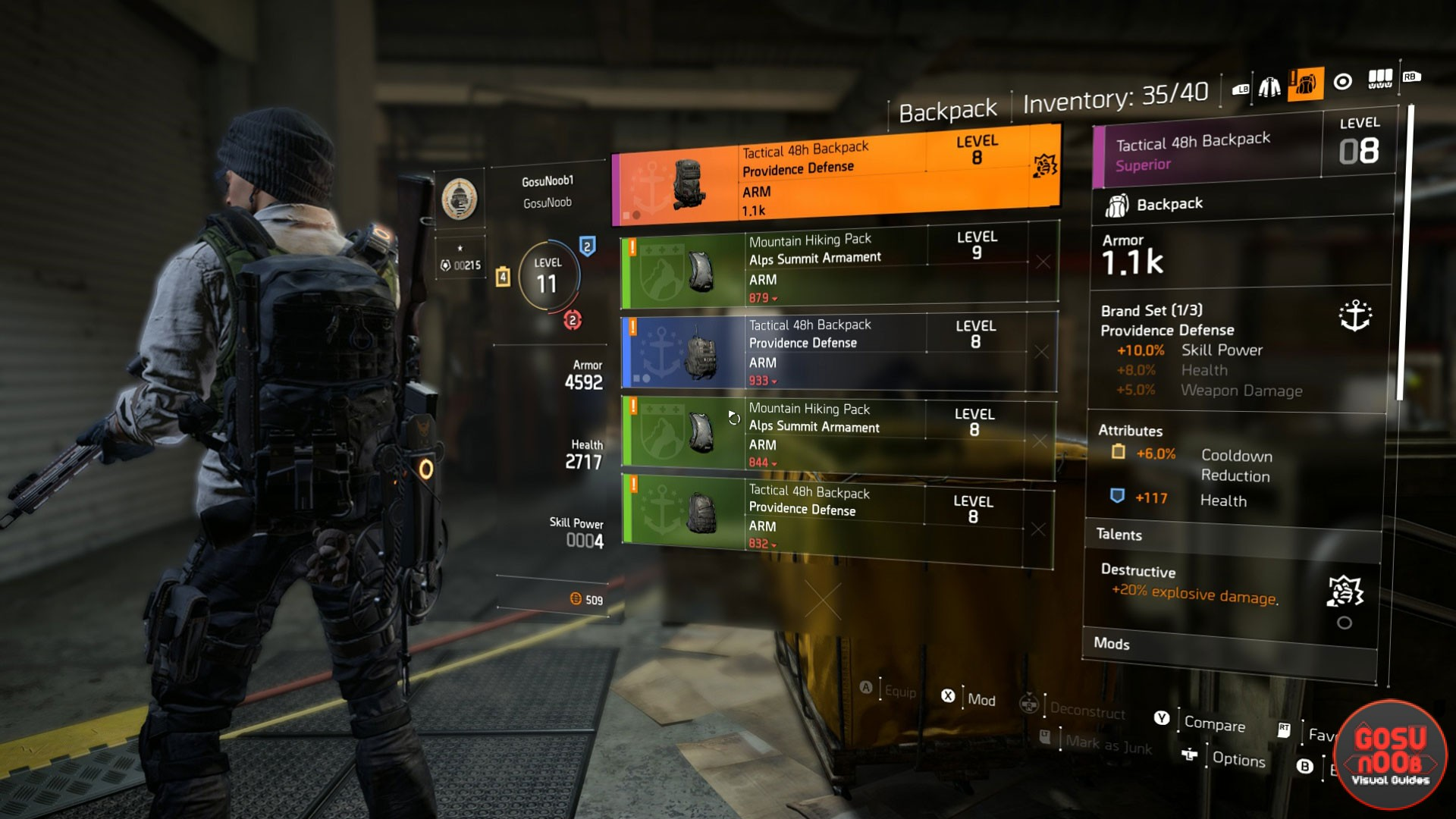 Division 2 How to Change & Apply Backpack Skin