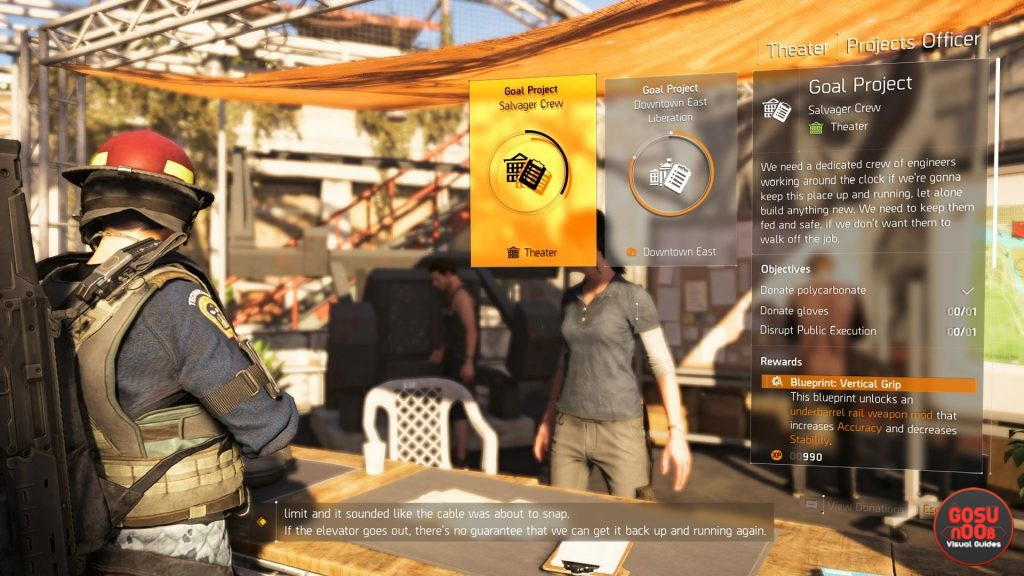 Division 2 Projects How to Complete Donate Objectives