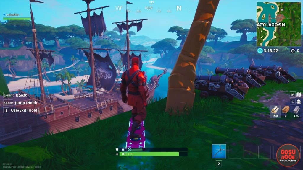 Fortnite Pirate Cannon Locations Deal Damage Weekly Challenge