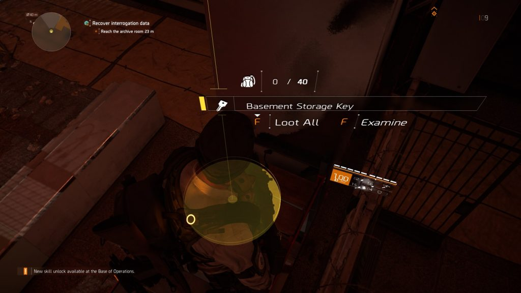division 2 basement storage key