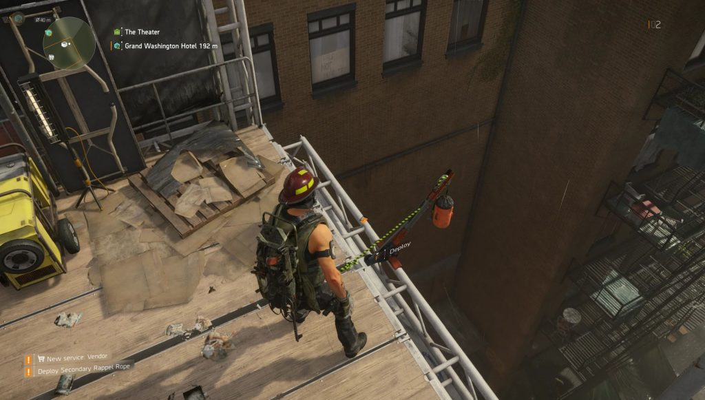 Division 2 Deploy Main & Secondary Rappel Ropes at Theater