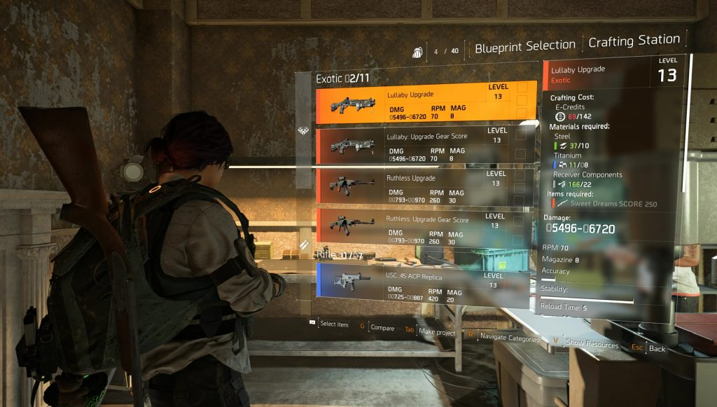 division 2 sweet dreams score 250