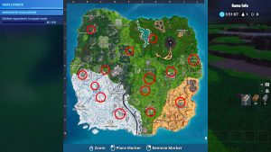 fortnite br campfire locations challenge