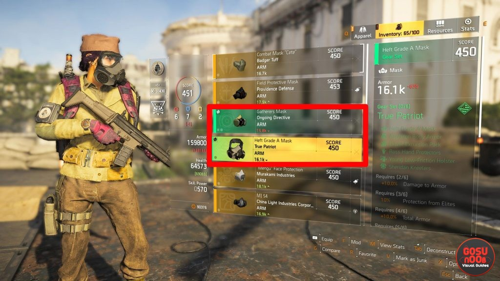 Division 2 New Gear Sets - Hard Wired, True Patriot, Ongoing Directive