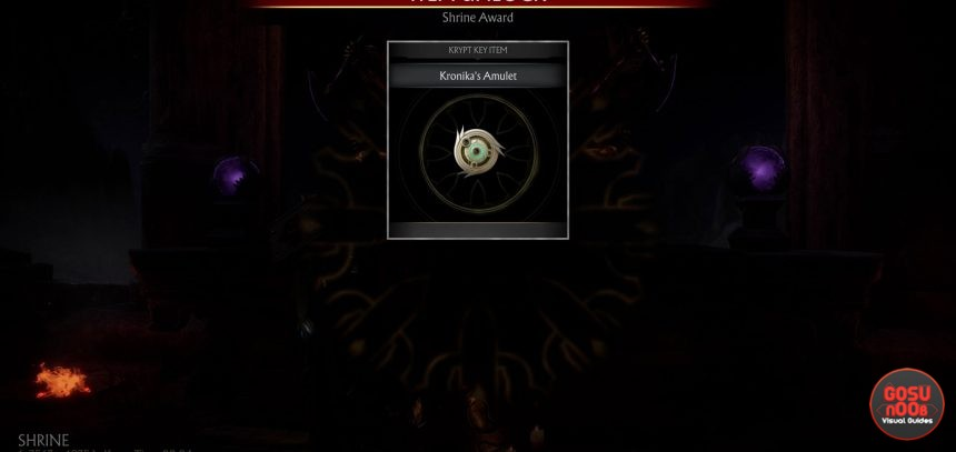 Mortal Kombat 11 Pay Tribute To The Gods - Kronika's Amulet