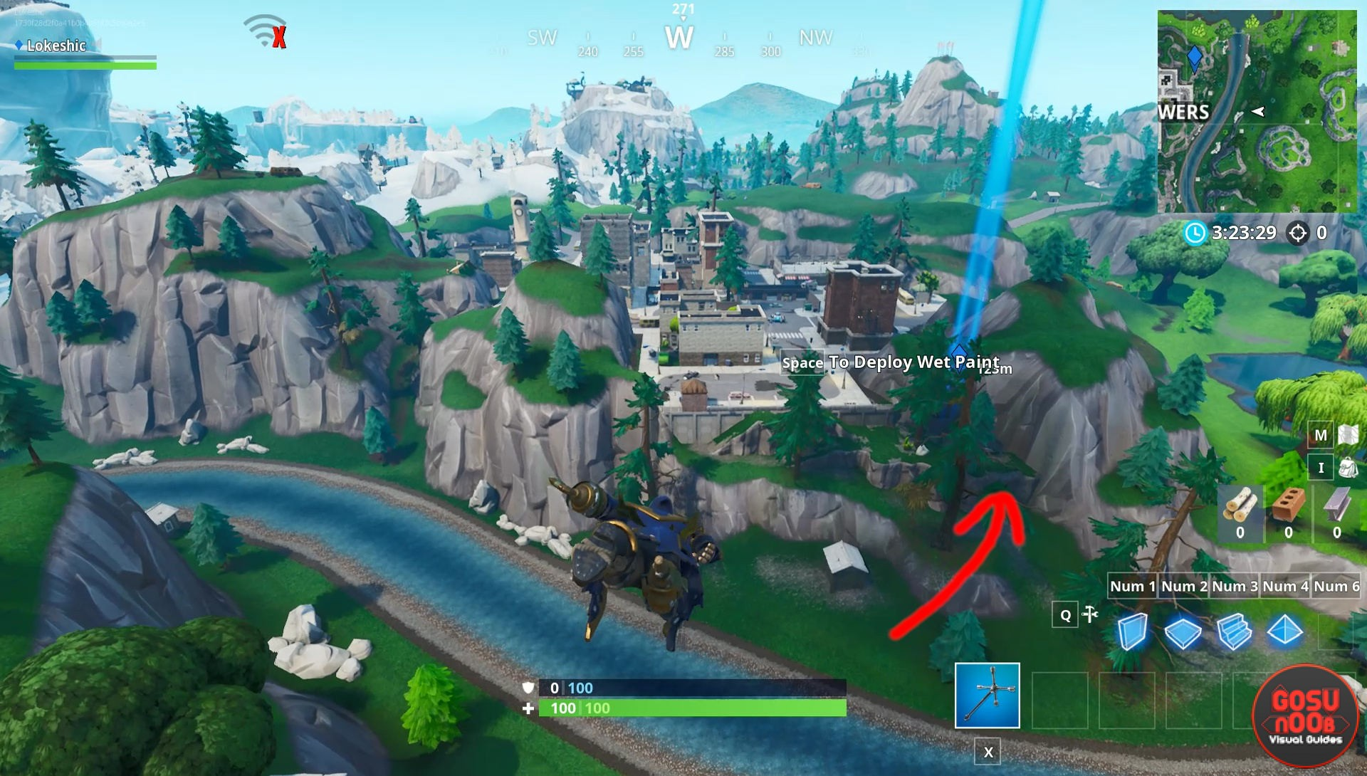 - search puzzle pieces under bridges and in caves fortnite