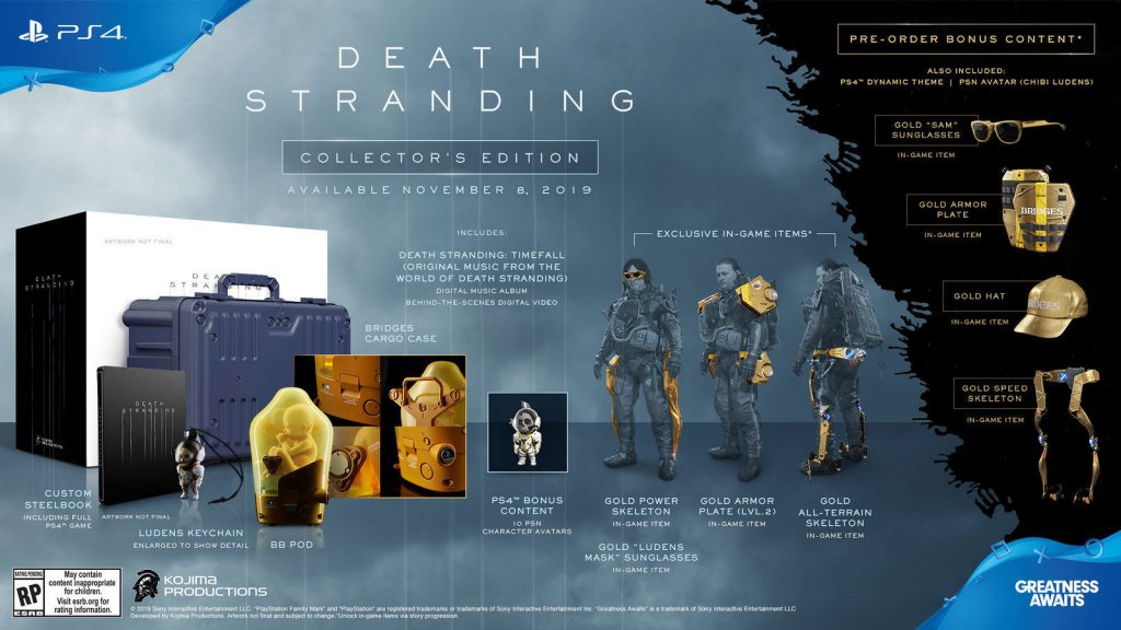 Death Stranding Pre-Order & Special Edition Bonuses Revealed