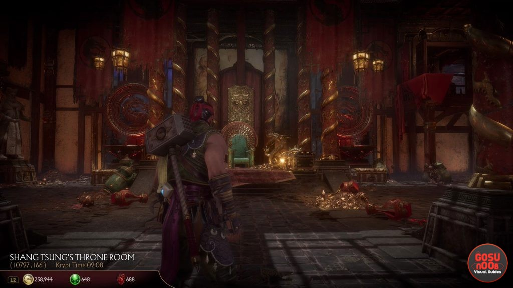 MK11 Jacqui Briggs & Cetrion Chest Shang Tsung Throne Room Locations