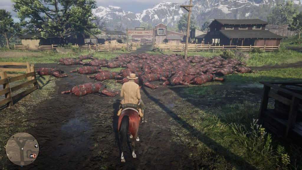 Red Dead Online Plagued by Piles of Dead, Skinned Horses