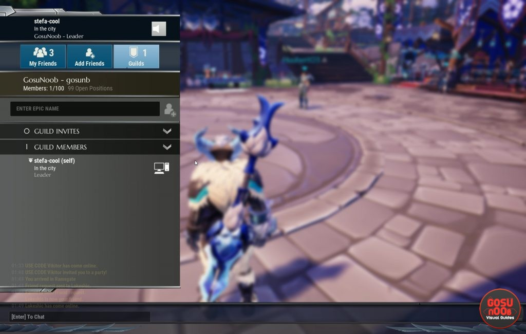 dauntless how to create guild