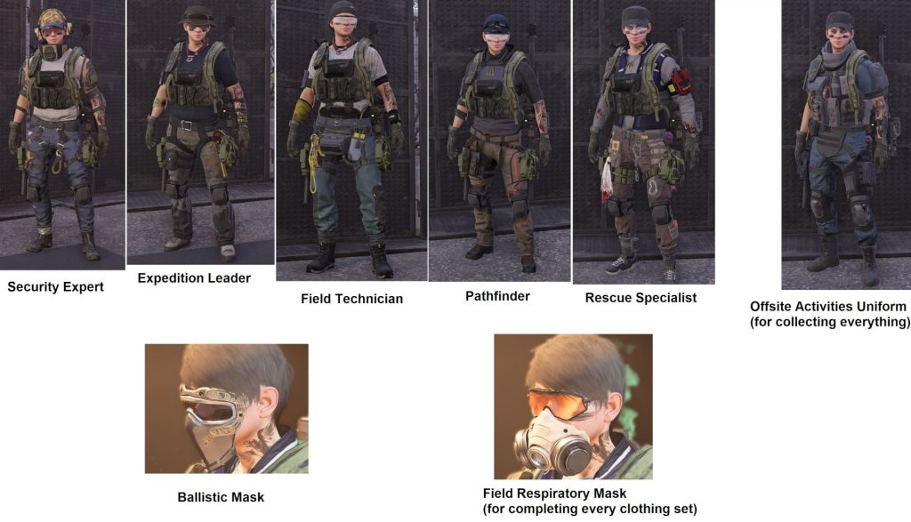 division 2 dark hours apparel event oufits masks