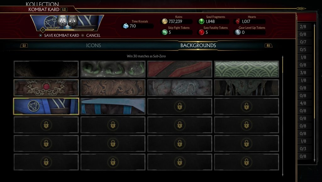 mk11 kombat kard character name backgrounds