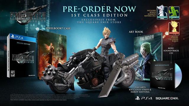 Final Fantasy VII Special Edition & Pre-Order Bonuses Announced