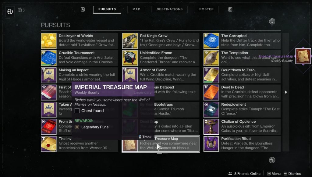 destiny 2 imperial treasure map locations