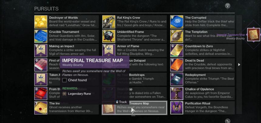 destiny 2 imperial treasure map locations