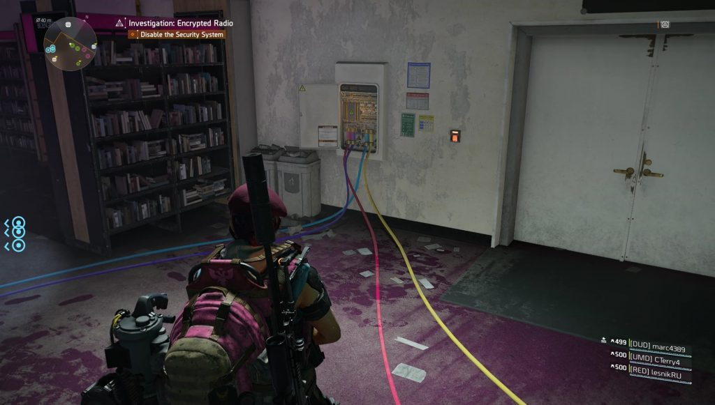 division 2 kenly library disable security system cable puzzle solution