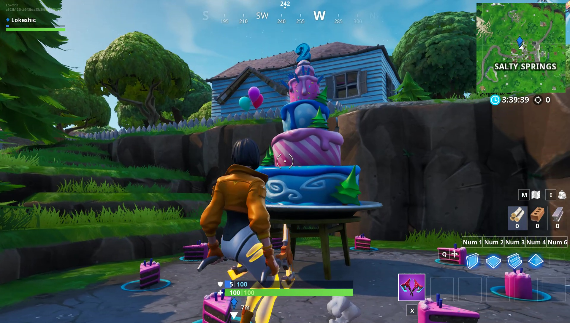 Fortnite Birthday Cake Locations 2nd Birthday Challenge