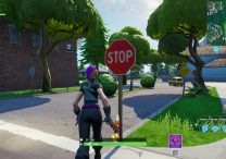 fortnite br destroy stop signs with catalyst outfit