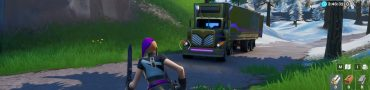 fortnite br search between basement film camera snowy head statue flashy gold big rig
