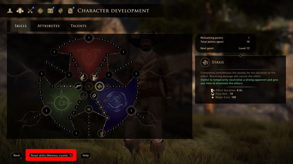 GreedFall Memory Crystals & Respec - How to Get
