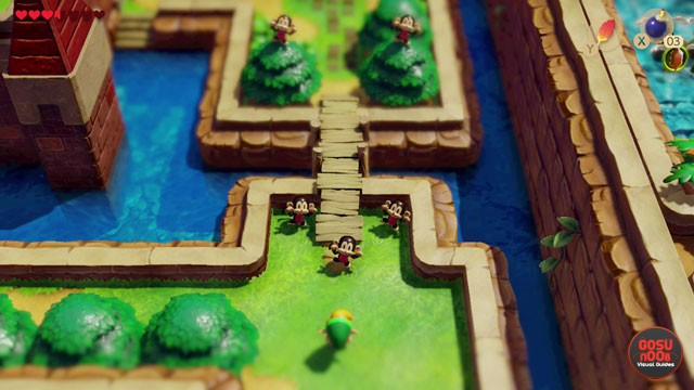 Zelda Link's Awakening Bananas Location - How to Enter Kanalet Castle