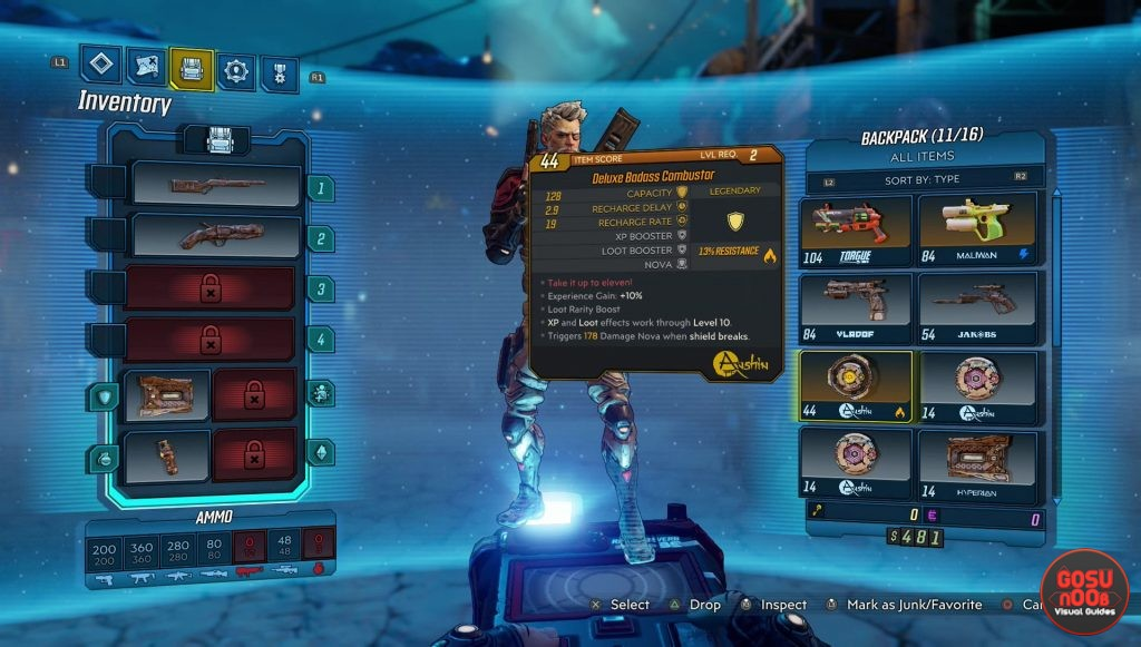 borderlands 3 how to increase inventory size get space