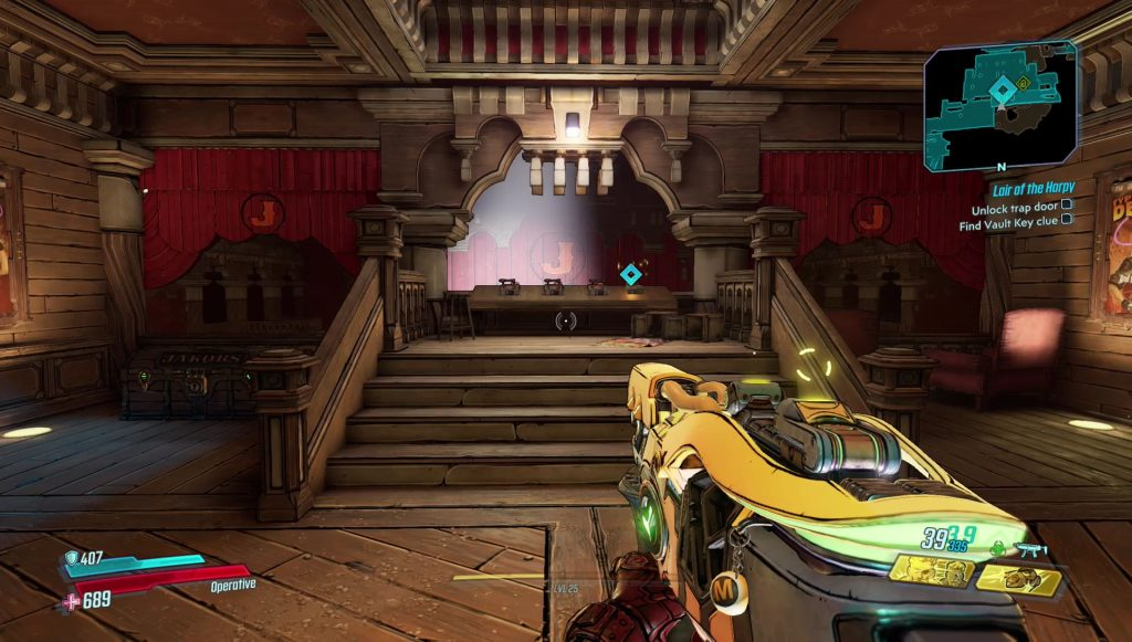 borderlands 3 lair of the harpy trap door stage set puzzle