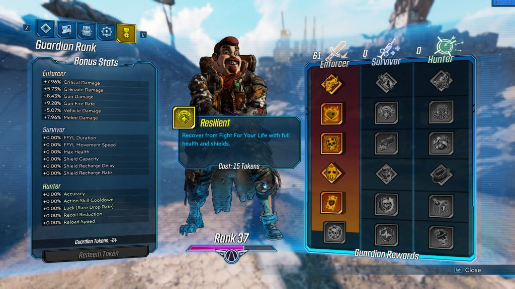 borderlands 3 negative guardian rank tokens bug