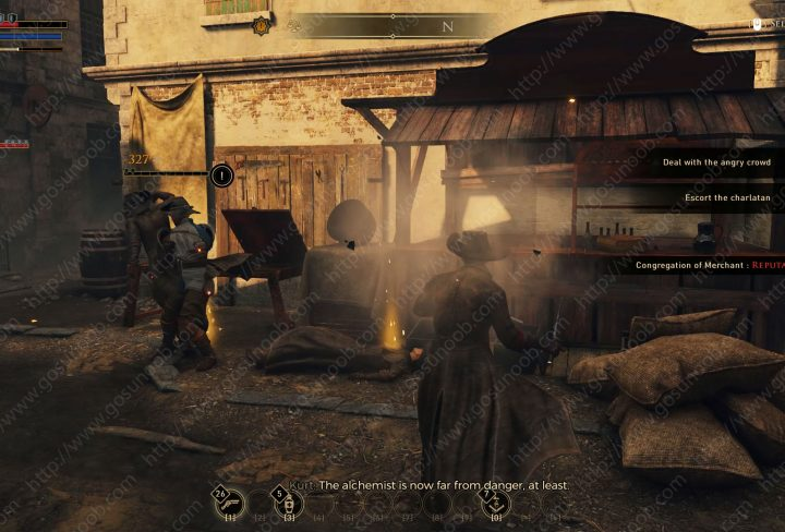 greedfall charlatan deal with the angry mob