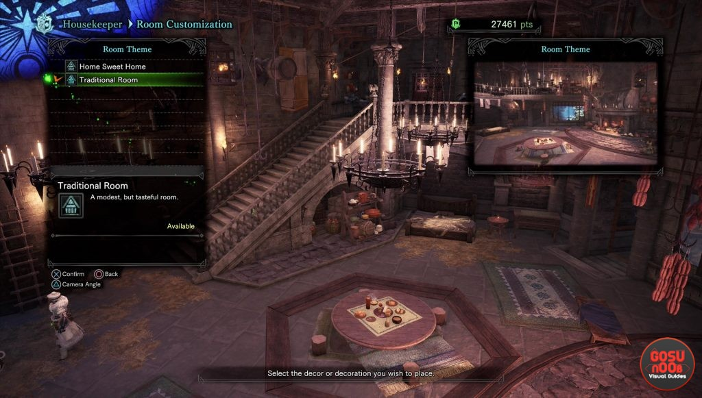 mhw iceborne room customization decorations furniture
