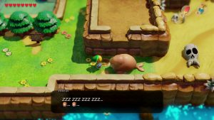 zelda link's awakening how to move walrus