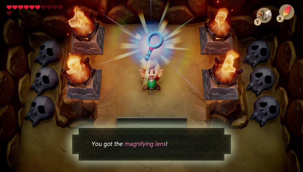 zelda link's awakening magnifying lens how to get