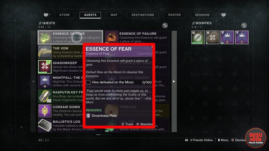 Destiny 2 Essence of Fear How to Fix Quest Not Appearing Bug