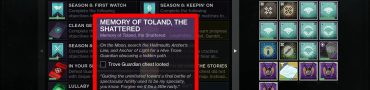 Destiny 2 Memory of Toland Trove Guardian Chest Location