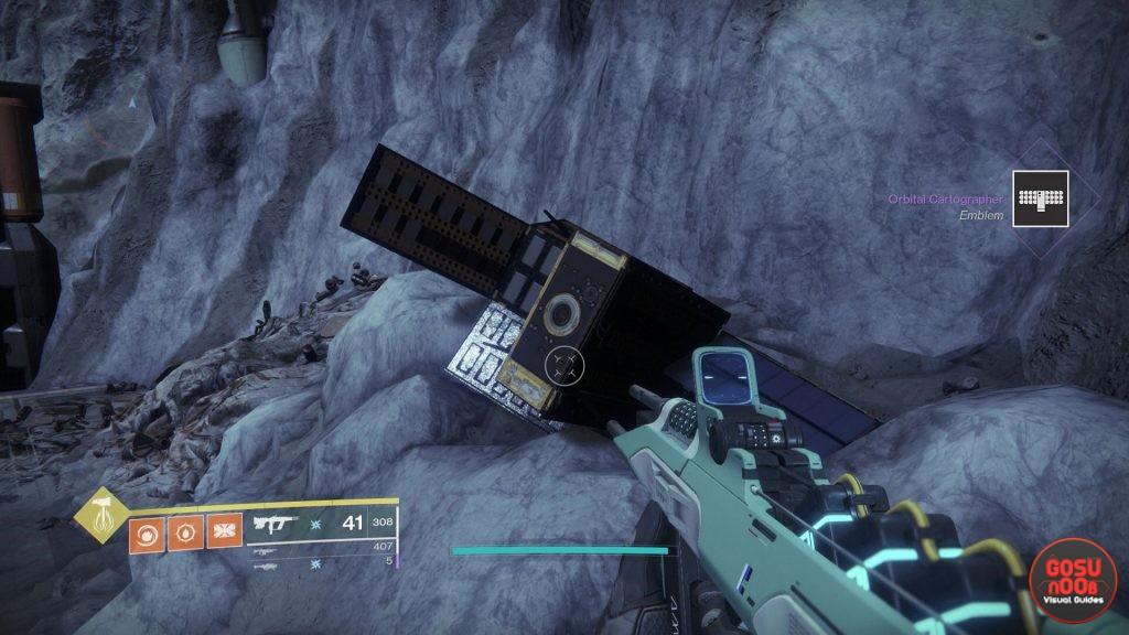 Destiny 2 Shadowkeep Secret Emblem Orbital Cartographer Location