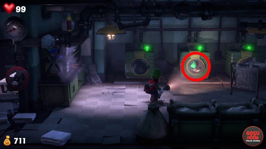 Luigis Mansion 3 Basement Green Gem in Washing Machine How to Get Diamond