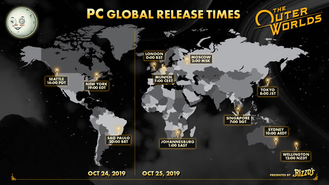 Outer Worlds Starting Times on PC, Xbox One, PlayStation 4
