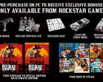 Red Dead Redemption 2 PC Preorder Bonuses Revealed