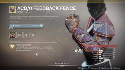 ACD/0 Feedback Fence